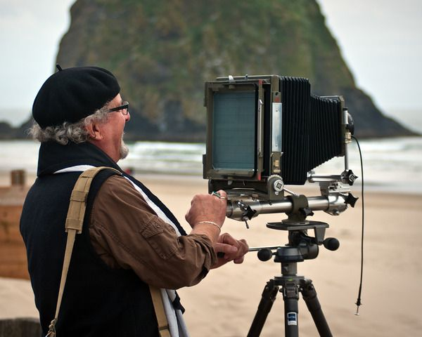 Ray Bidegain with an 8x10 inch Sinar Norma Monorail camera #sinar #largeformat Turn your world upside down- introduction to large format photography - July 13, and July 20, 2014