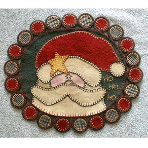 Ho,Ho,Ho Pennyrug By Sew Unique Creations , Wool/Penny Rug Patterns   Quilterswarehouse