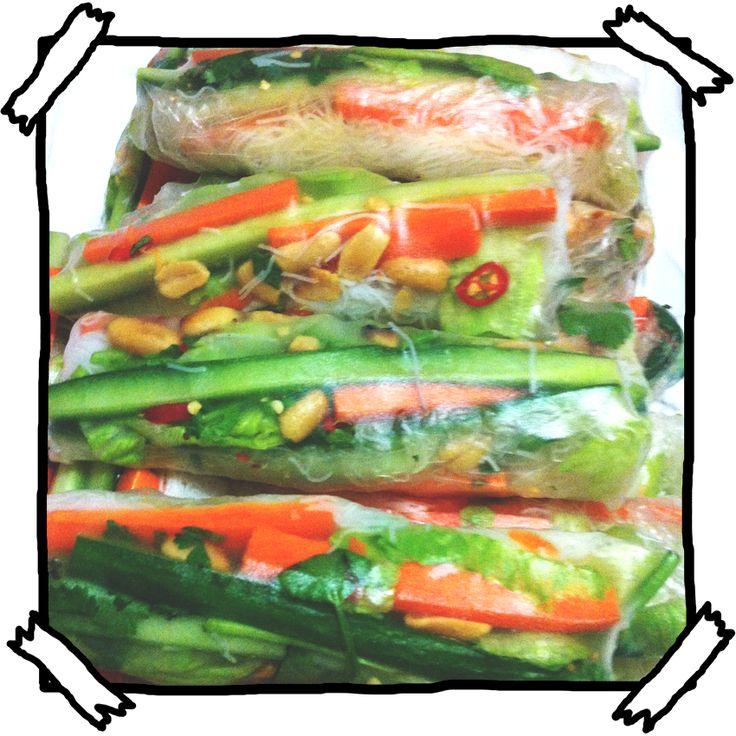 Some Serious Gourmet Shit: Vietnamese Rice Paper Rolls