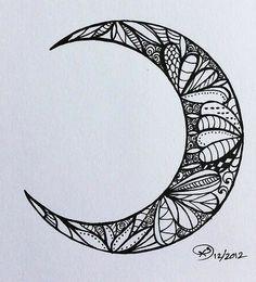 tattoo idea... Like the design in the moon