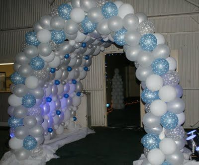 Party People Celebration Company - Special Event Decor Custom Balloon decor and Fabric Designs: Winter Wonderland 2008