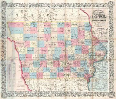 Best Iowa Images On Pinterest Iowa Maps And Globes - Mapof iowa