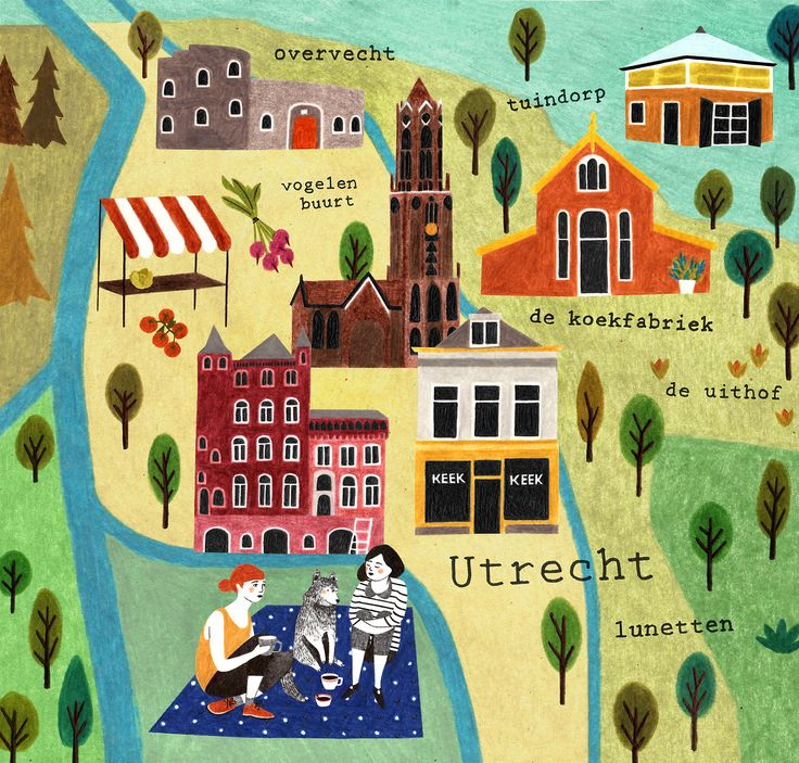 Map of Utrecht by Liekeland