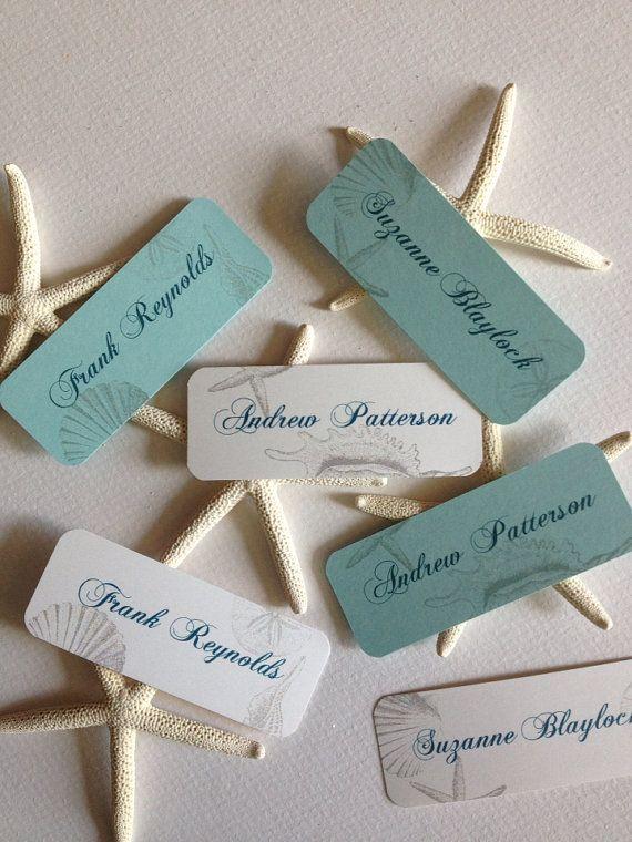 Place Cards Sea Shells Escort Cards - Wedding/Quince/Bat Mitzvah - Beach Theme
