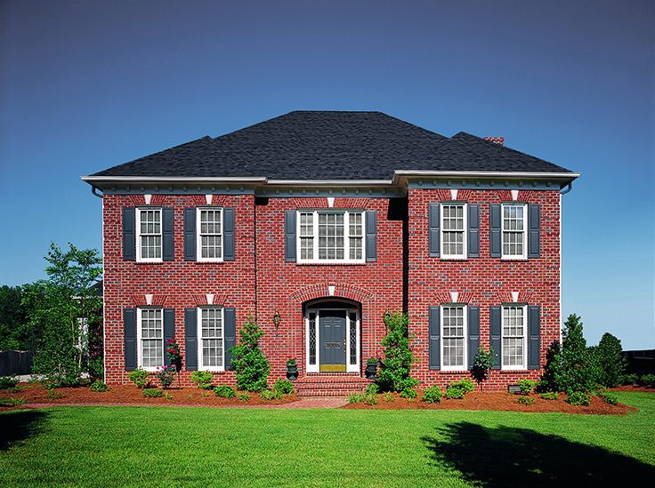 The beauty is in the details this home illustrates many for Brick quoin detail