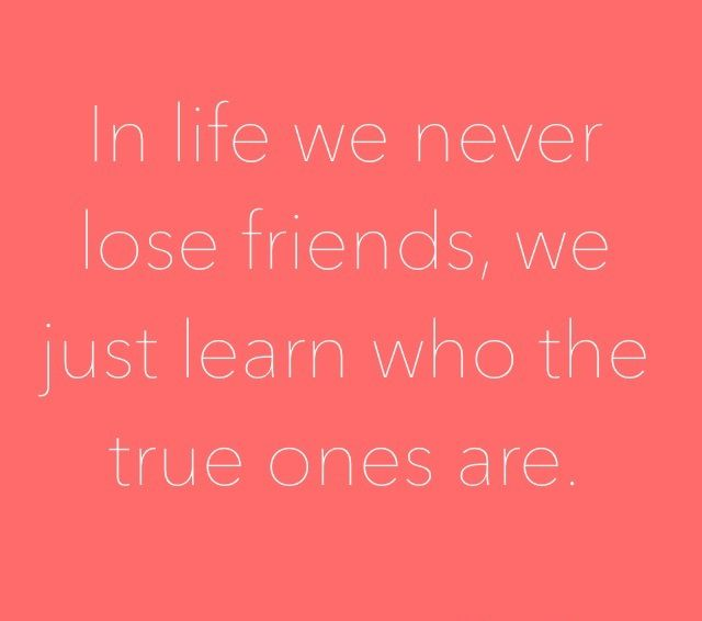 Friendship Will Come And Go But The Real Friends Will Stay