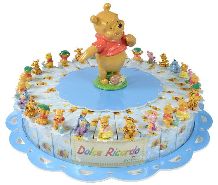 Torta bomboniera 30 fette Winnie Pooh  confetti a scelta inclusi nel prezzo #tortabomboniere #disney #winnie #bombonierenovita
