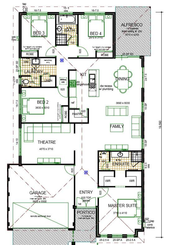 The Rosanna New 4 Bedroom Homes Mandurah Perth Wa Denah Terbuka