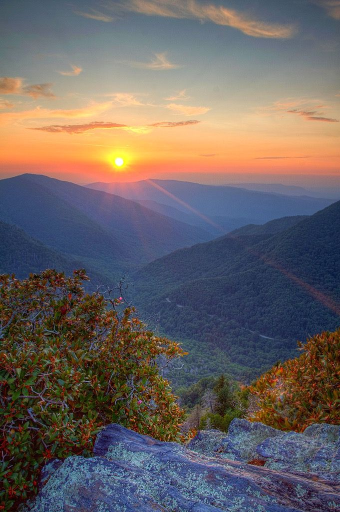 Sunset over the Great Smoky Mountains (Tennessee) by Scott Oves
