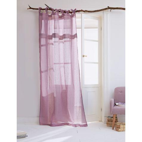 Leinen-Vorhang-Set mit Spitze, 2-tlg. Katalogbild