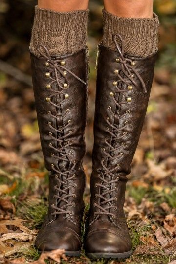 Chocolate, lace up fron riding boots! Closet staple piece! Obsessed! The perfect pair of boots!