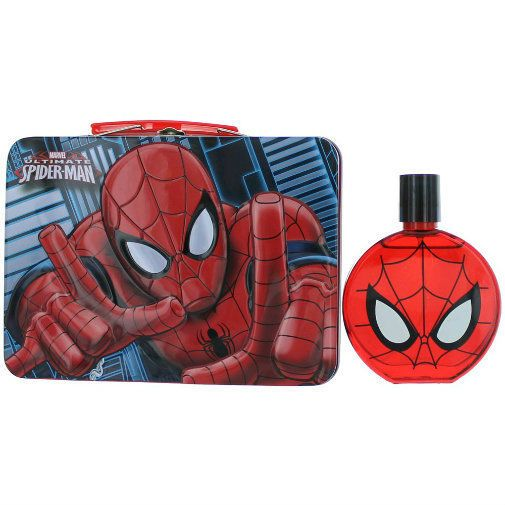 Ultimate Spiderman by Marmol &Son,3.4 oz EDT Spray for Boys with Metal Lunch Box #MarmolSon