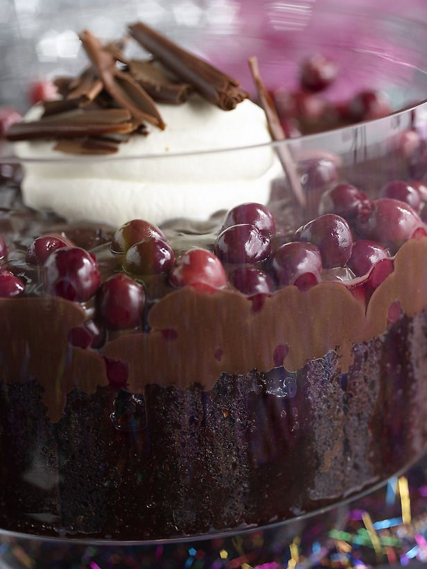 Chocolate Cherry Trifle: We love trifle.  It's easy and delicious--this is definitely one I will be trying...possibly for our New Years Eve party.