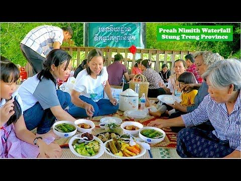 Preah Nimith Waterfall Mekong River at Stung Treng Province   Sopheakmit...