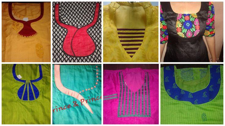 Different types of kurti neck patterns