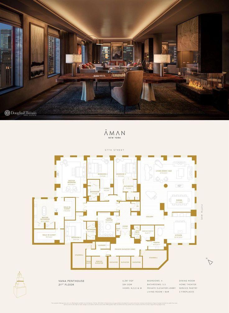Aman New York Residences The Vana Penthouse residence