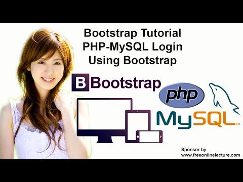 PHP-MySQL Login Using Bootstrap - YouTube