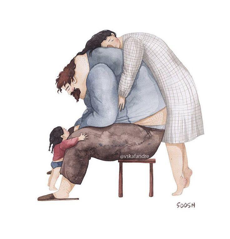 Обсуждениях, папа и дочь картинки рисунки