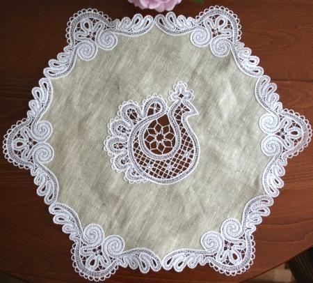 Advanced Embroidery Designs - FSL Battenberg Peacock Lace Set