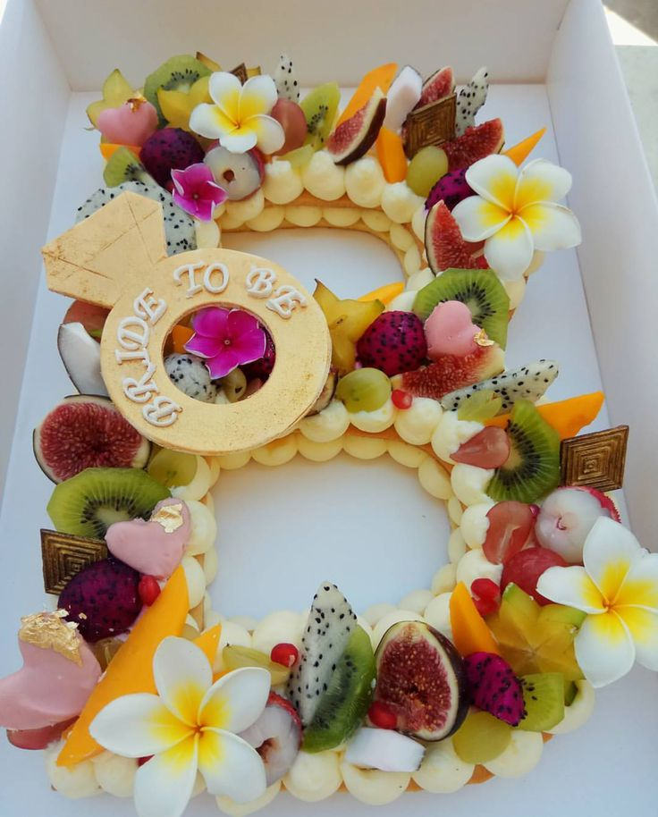 fruit cake letter cakeB cake almont tart healthy cake TROPICCAL FRUITS