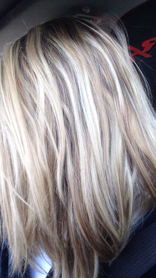 Light brown/dirty blonde with light blonde highlights.