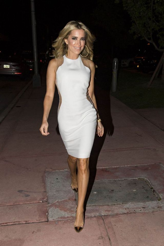 Sylvie Meis Looking Stylish Night Out In Miami Beach