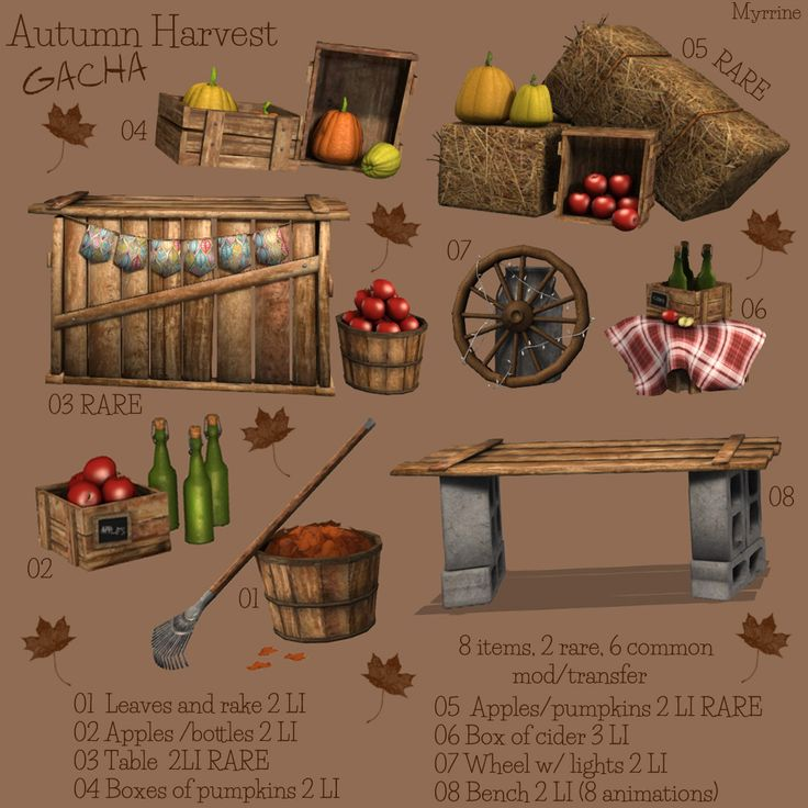 Autumn gacha available at Cosmopolitan event in Second Life.