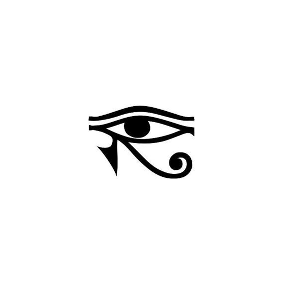 Set of 2 Eye of Horus Egyptian temporary  Tattoo wrist ankle