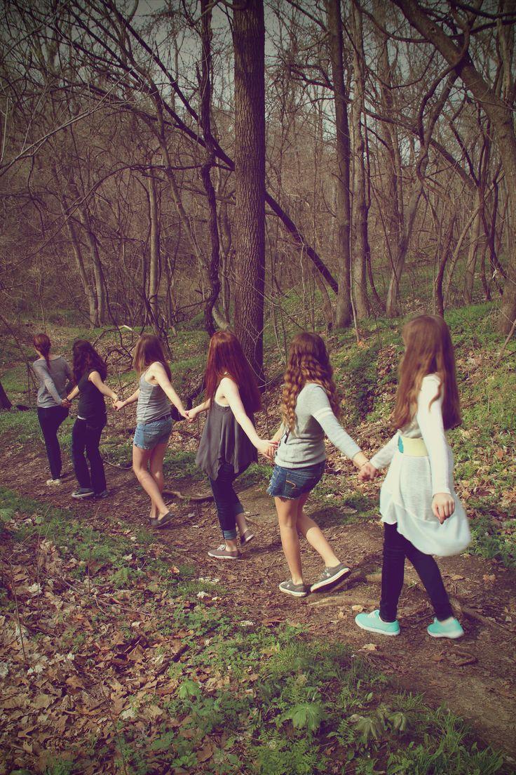 BFF photo walk in the woods 1.  Best Friends Photo Shoot.