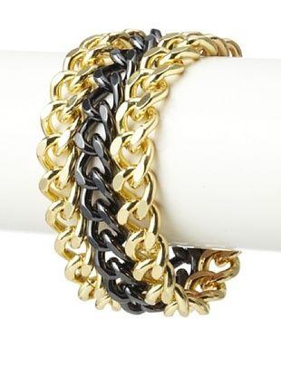 Jardin Triple Curb Link Bracelet
