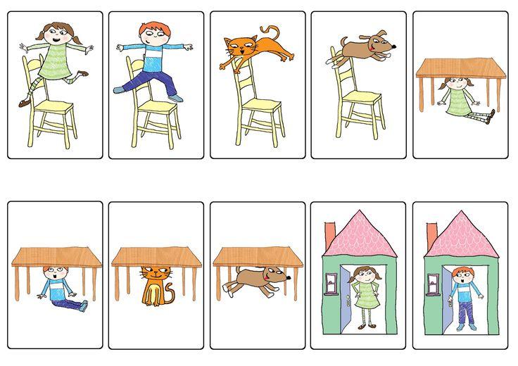 Taal, syntaxis, voorzetsels. Voorbereidend rekenen/ prenumerische vaardigheden, rekentaal, rekenbegrippen: ruimte.