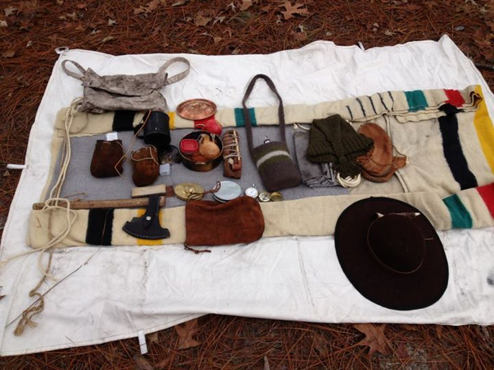 A 21st Century Longhunter Kit all laid out.