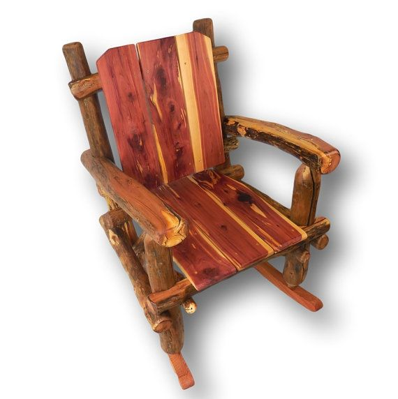 Made to Order Rocker Rustic Rocking Chair Reclaimed by WoodzyShop