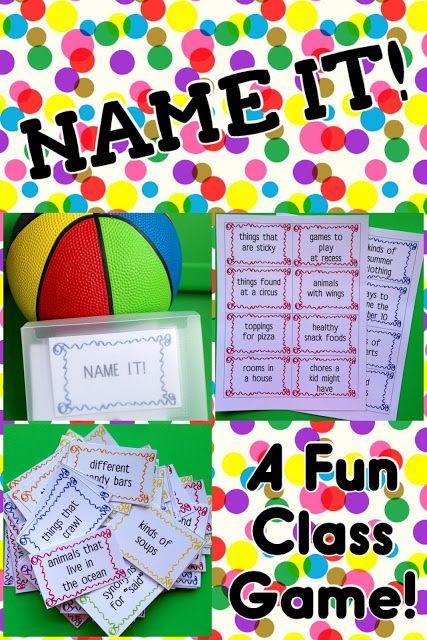 Teaching My Friends!: Name It! A Game FREEBIE