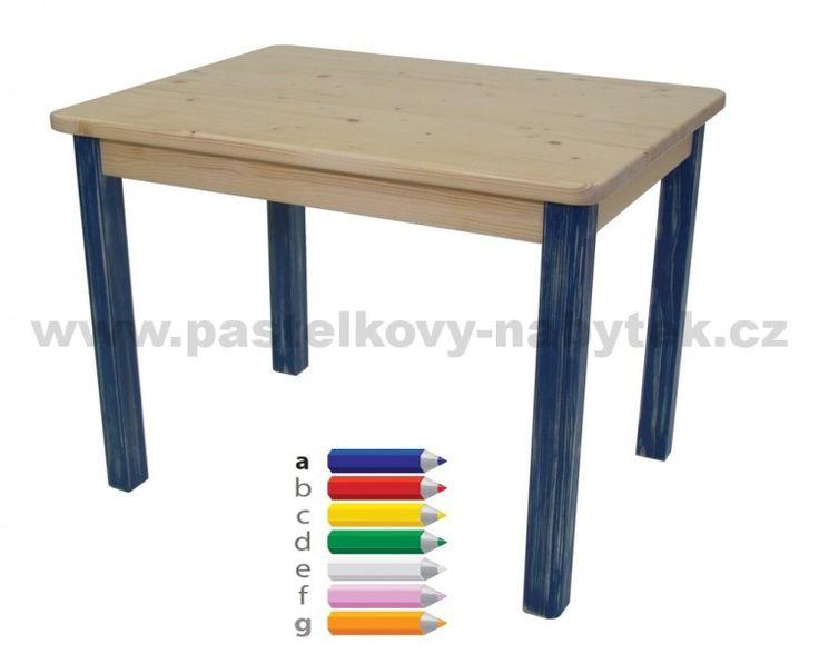 Stůl obdélníkový vel.1 (46cm) | Dětský dřevěný nábytek - BOB nábytek