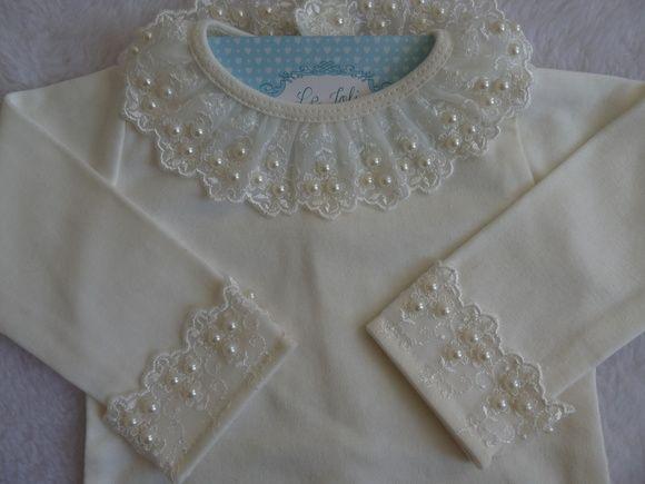 ae2188440 Body manga longa, off white, malha 100% algodão, com gola e punhos ...