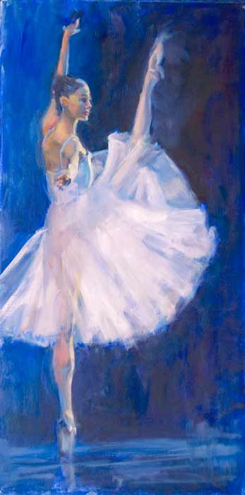 Pointe to Pointe - oil by ©Nicole White Kennedy - www.nicolestudio.com/images/NicoleArt/Figurative.html