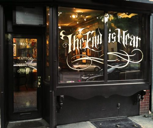 brooklyn tattoo parlor & gallery. black exterior