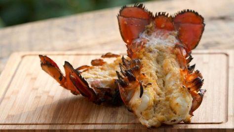 Queue d 'homard sur bbq