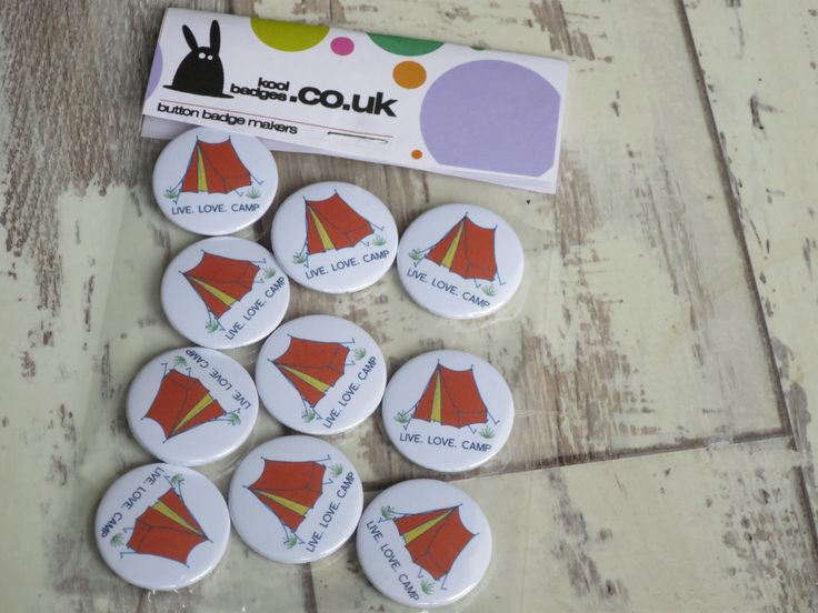 Heading away this Summer on a camping holiday & need a fun keepsake for everyone… – Button badges