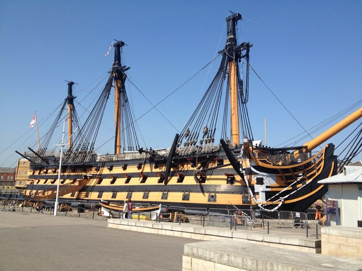 HMS Victory at Portsmouth Historic Dockyard itt: Portsmouth, Hampshire