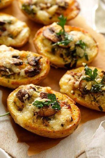 Pommes de terre gratinu00e9es fromage et champignons