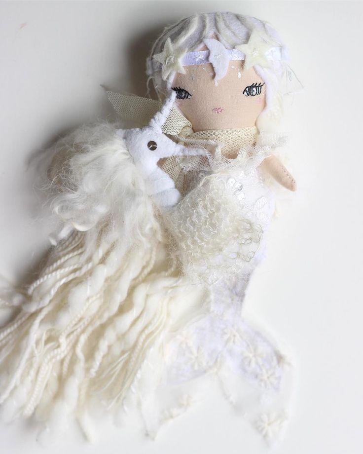 Mermaid Doll and sea unicorn familiar by liberty lavender dolls