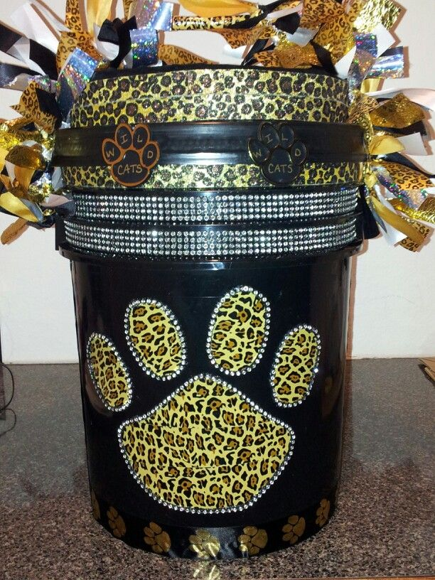 Finally finished my daughters cheer bucket!                                                                                                                                                      More