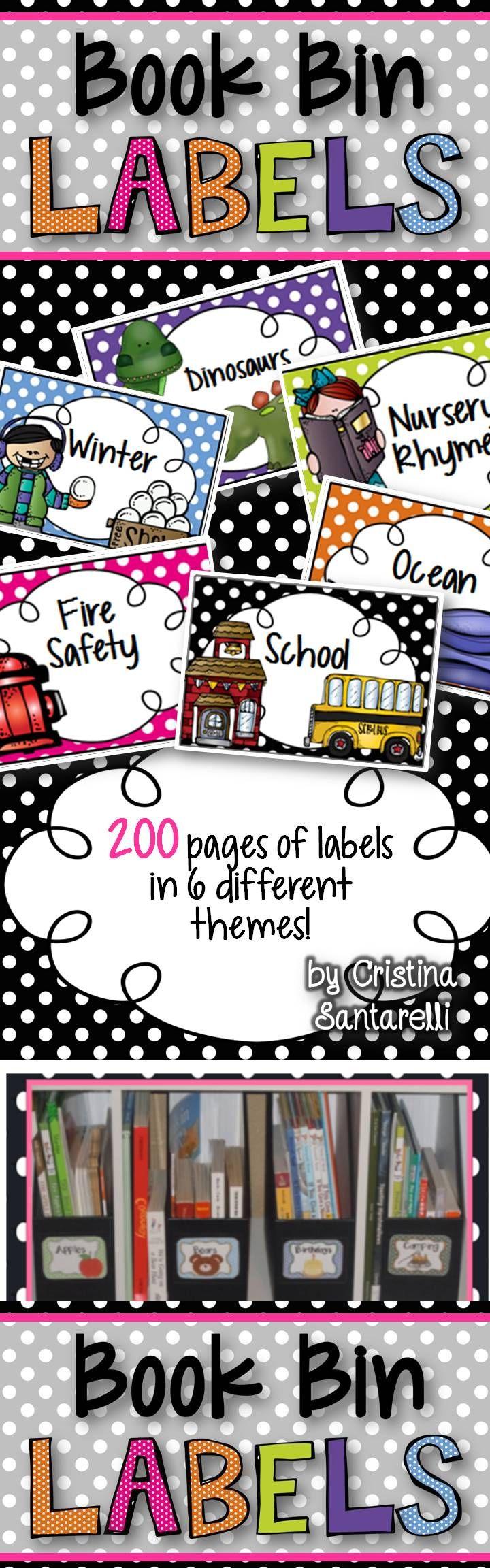 Book Bin Labels!