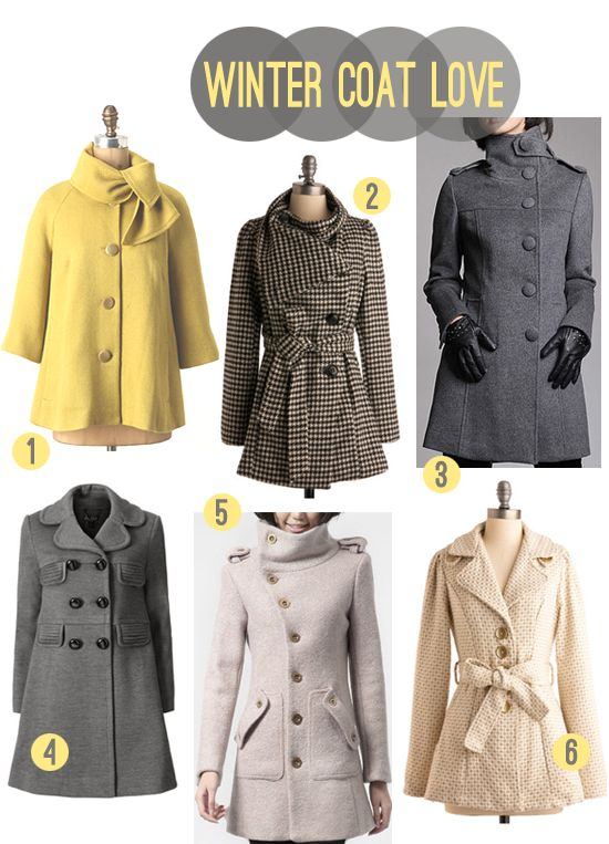 Winter coats! Totally my style!! :)