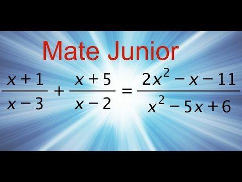 Ejercicio de ecuaciones desarrolladas paso a paso Sigueme en facebook y YouTube como Mate Junior