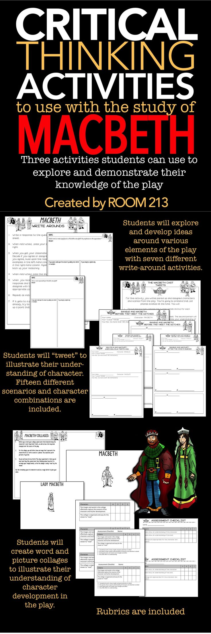 best ideas about macbeth activities macbeth macbeth three activities that your students can use to explore and demonstrate their knowledge of