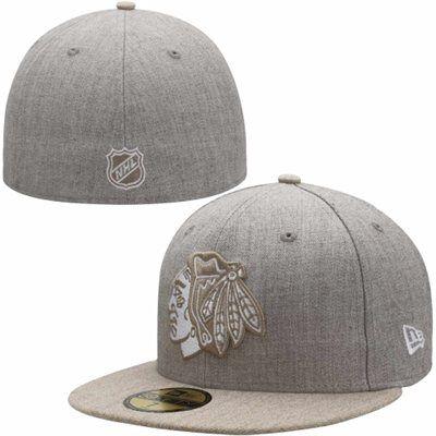 Mens Chicago Blackhawks New Era Gray Blender 59FIFTY Fitted Hat