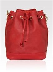 Shine Bright Leather Handbag - www.niclaire.com.au #leather #handbag #ladieshandbag #metallicleather #fashion #totebag #tote #red